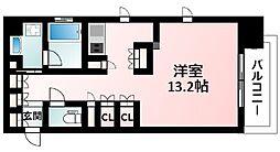Osaka Metro御堂筋線 江坂駅 徒歩3分の賃貸マンション 9階ワンルームの間取り