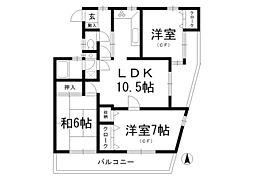 東京都杉並区天沼1丁目の賃貸マンションの間取り