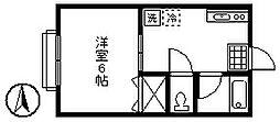 清山荘[2階]の間取り