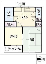 第2岬ビル[2階]の間取り