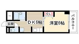 第五名昭ビル[315号室]の間取り