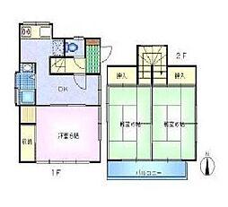[一戸建] 東京都杉並区本天沼3丁目 の賃貸【/】の間取り