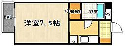 滋賀県大津市下阪本6丁目の賃貸アパートの間取り