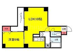 大阪府堺市堺区戎之町西1丁の賃貸アパートの間取り