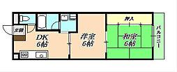 サンシャインA[4階]の間取り