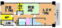 サーパス西古松I[7階]の間取り