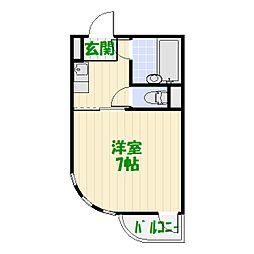 エレガンス綾瀬2[3階]の間取り