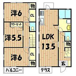 [テラスハウス] 神奈川県横浜市旭区中希望が丘 の賃貸【/】の間取り