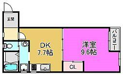 ラ・レジダンス・リル[3階]の間取り