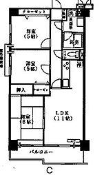 カーサエストゥペンダ[7階]の間取り