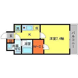 T's square城東野江[5階]の間取り