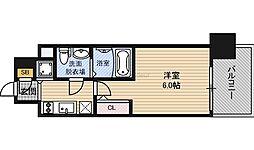 Osaka Metro長堀鶴見緑地線 京橋駅 徒歩8分の賃貸マンション 9階1Kの間取り