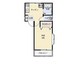 コスモ千代田[2階]の間取り