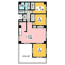エクレール桜ヶ丘[5階]の間取り