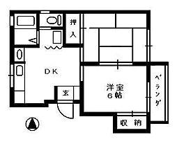 ハイツソレイユ[2階]の間取り