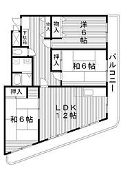 東京都練馬区富士見台の賃貸マンションの間取り