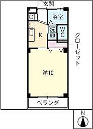ベルード21[3階]の間取り