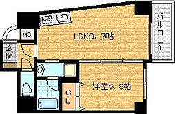 D-Rest 中之島[2階]の間取り