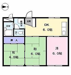 愛知県海部郡大治町大字花常字人見の賃貸アパートの間取り