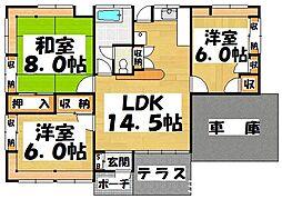 [一戸建] 福岡県大野城市乙金1丁目 の賃貸【/】の間取り