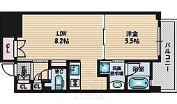 大阪府吹田市垂水町1丁目の賃貸マンションの間取り