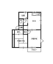ベルディハウス[1階]の間取り