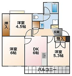 光陽マンション 第二号棟[1階]の間取り
