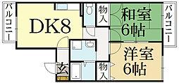 セジュール柿ノ木[1階]の間取り