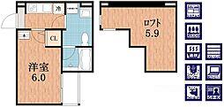 REVE林寺[2階]の間取り
