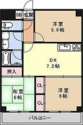 ボナセーラ竹田[307号室号室]の間取り