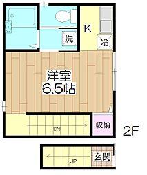 (仮)足立1丁目 共同住宅[2F号室]の間取り