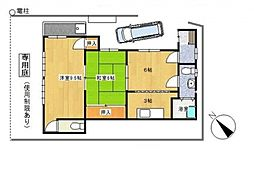 [一戸建] 神奈川県横浜市泉区下和泉3丁目 の賃貸【/】の間取り