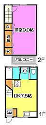 [テラスハウス] 埼玉県所沢市緑町4丁目 の賃貸【/】の間取り