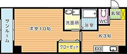 daimaru.BLD[201号室]の間取り