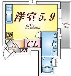 ラウェゾン須磨エルロロ[2階]の間取り