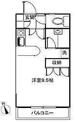 東京都狛江市中和泉3丁目の賃貸アパートの間取り