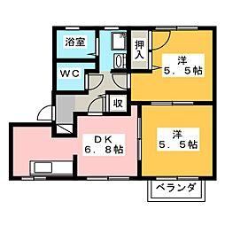 フォレスト21 C[1階]の間取り