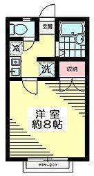 東京都杉並区今川1丁目の賃貸アパートの間取り