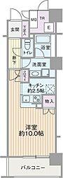 エル・セレーノ上本町レジデンス(Eタイプ)[8階]の間取り