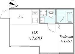 東京メトロ有楽町線 地下鉄赤塚駅 徒歩10分の賃貸アパート 3階1DKの間取り