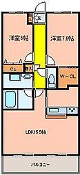 ボージャルダン[2階]の間取り