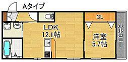 仮)東加賀屋アパートメント[2階]の間取り