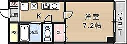 フォレスト醍醐[208号室号室]の間取り