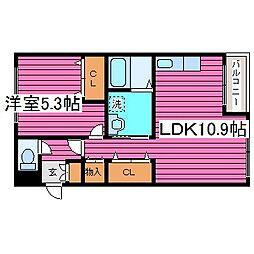 Ks Garden[203号室]の間取り