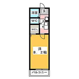 ラ・カモミール[2階]の間取り