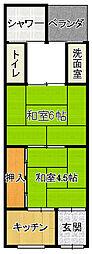 [タウンハウス] 大阪府大阪市平野区喜連2丁目 の賃貸【/】の間取り