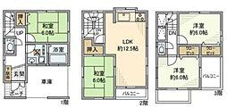 [一戸建] 神奈川県川崎市中原区西加瀬 の賃貸【/】の間取り