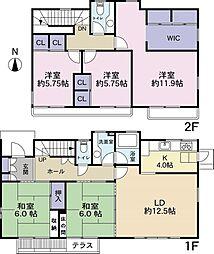 [一戸建] 宮城県仙台市泉区高森4丁目 の賃貸【/】の間取り