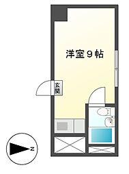 ユニーブル新栄[7階]の間取り