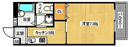 京都府京都市西京区川島尻堀町の賃貸アパートの間取り